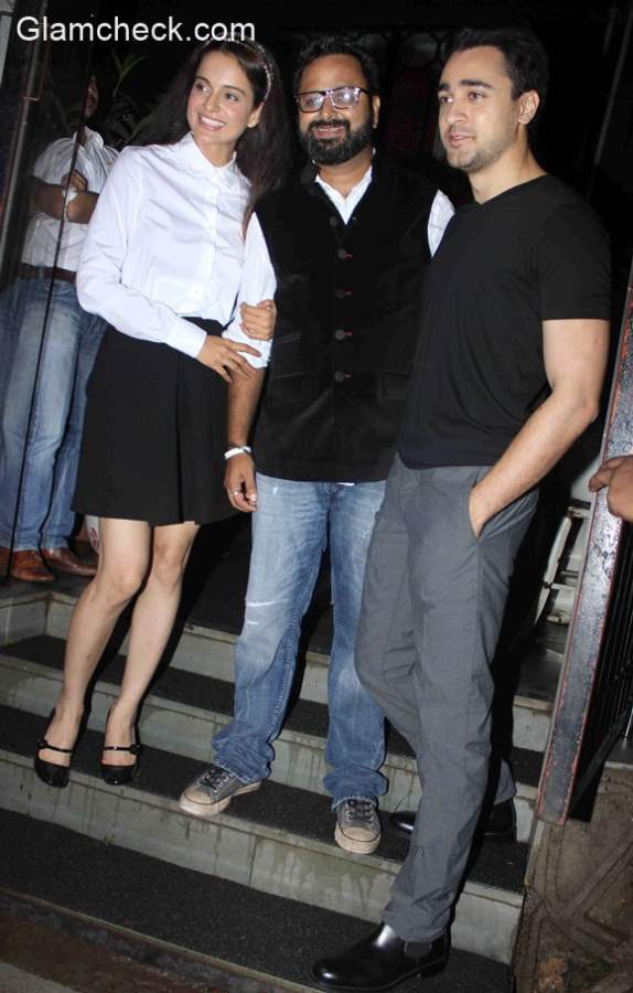 Kangana Imran Khan and Nikhil at a party for Katti Batti
