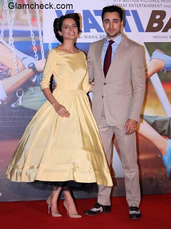 Kangana Ranaut and Imran Khan at the trailer launch of Katti Batti