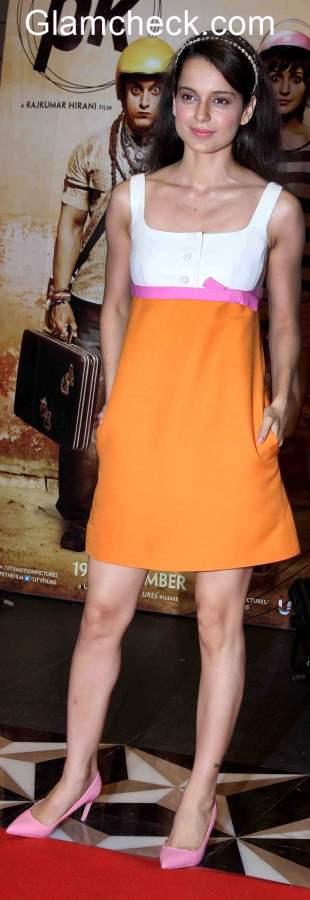 Kangana Ranaut in Valentino Dress at success party of PK