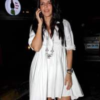 Neha Dhupia in white dress 2015