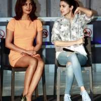 Priyanka Chopra Anushka Sharma Promote event of Dil Dhadakne Do in Gurgaon