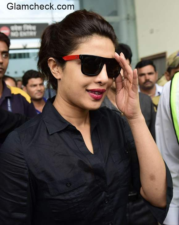 Priyanka Chopra arrives at the Airport in Bhopal