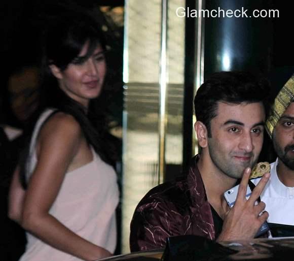 Ranbir Kapoor Katrina Kaif at Arjun Kapoor birthday party
