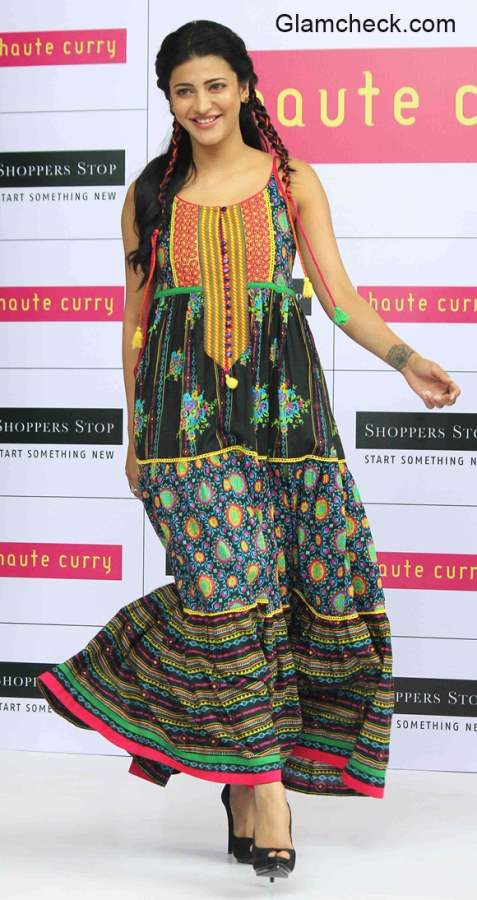 Shruthi Haasan walks the ramp for Haute Curry latest collection