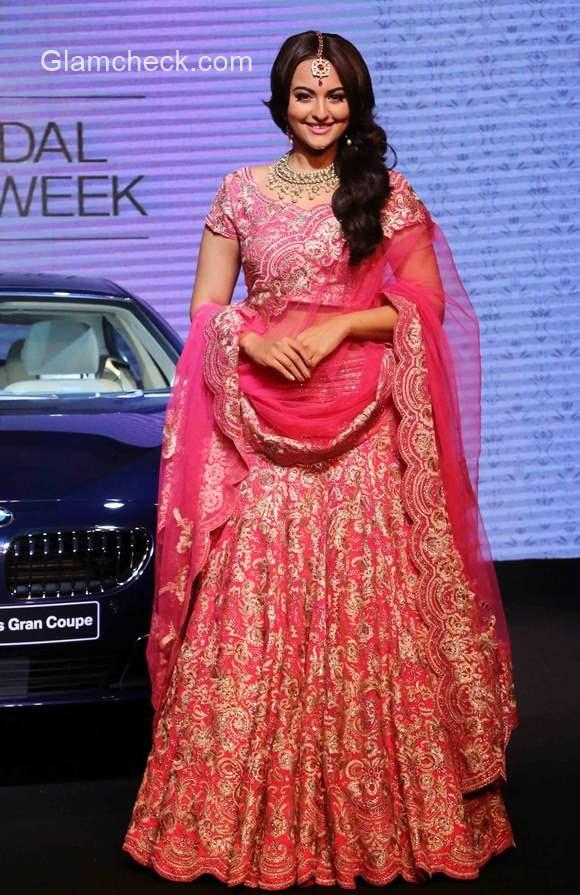 Sonakshi Sinha at BMW India Bridal Fashion Week 2015