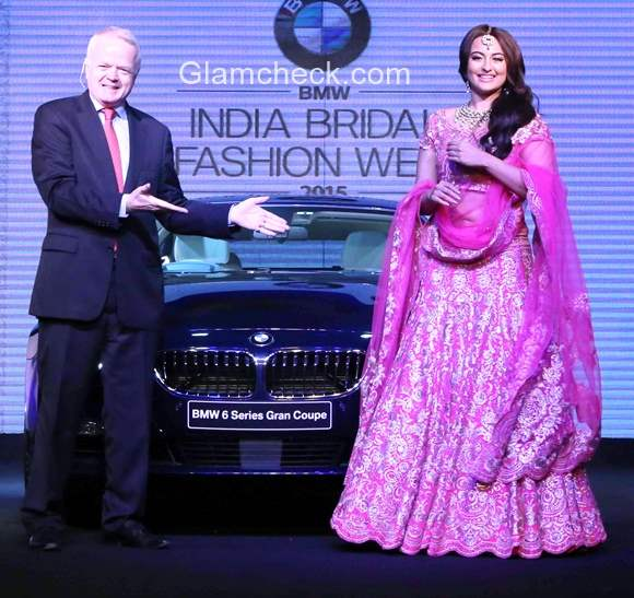 Sonakshi Sinha launches the BMW 6 Series Gran Coupe at the BMW India Bridal Fashion Week 2015