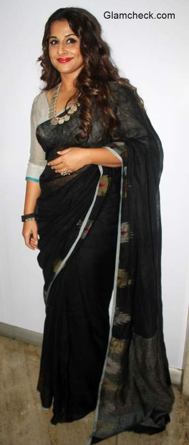 Vidya Balan in Black Saree 2015