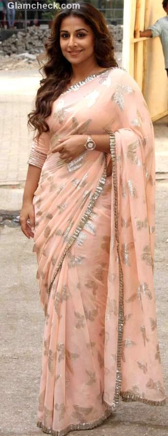 Vidya Balan in Peach Sree 2015