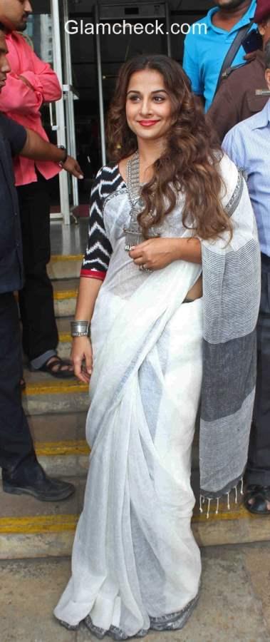 Vidya Balan in White Saree 2015
