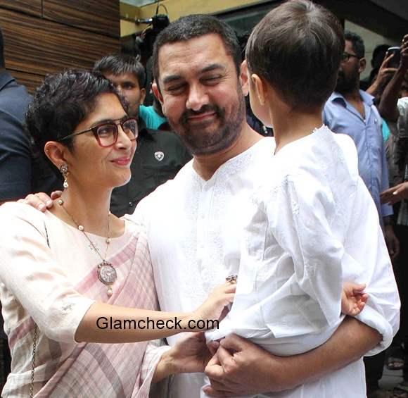 Aamir Khan wife Kiran Rao with son Azad Rao Khan