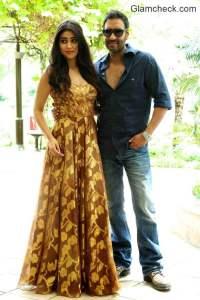 Ajay Devgan Sriyan Saran and Tabu promote film Drishyam