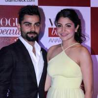 Anushka Sharma Virat Kholi at Vogue India Beauty Awards 2015