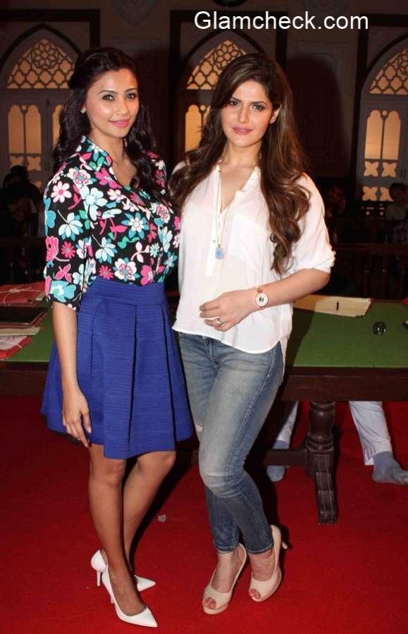 Daisy Shah and Zarine Khan during the 1st day shoot of Hate Story 3