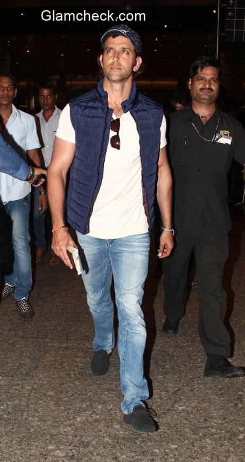 Hrithik Roshan after shooting a music video for Yo You Honey Singh