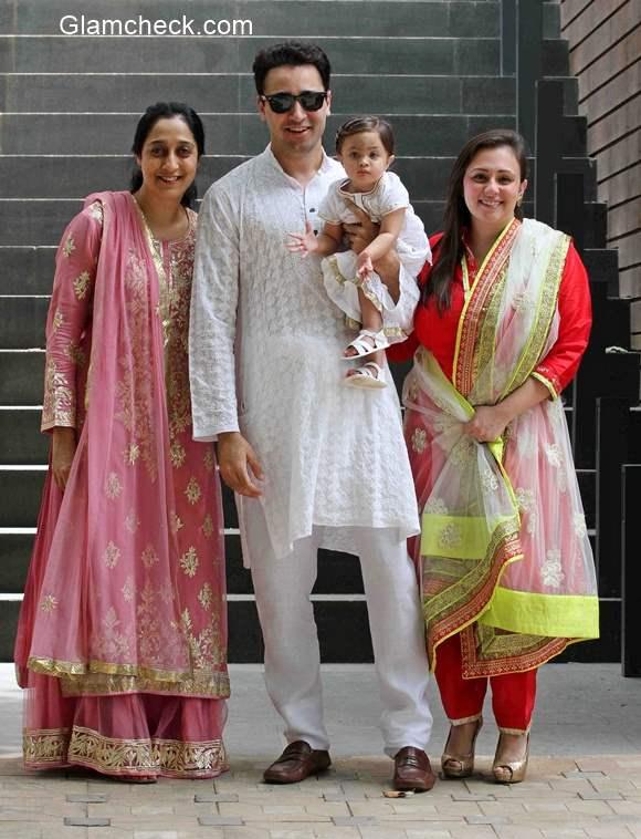 Imran Khan celebrates Eid with wife Avantika Malik daughter Imar and mother Nuzhat Khan