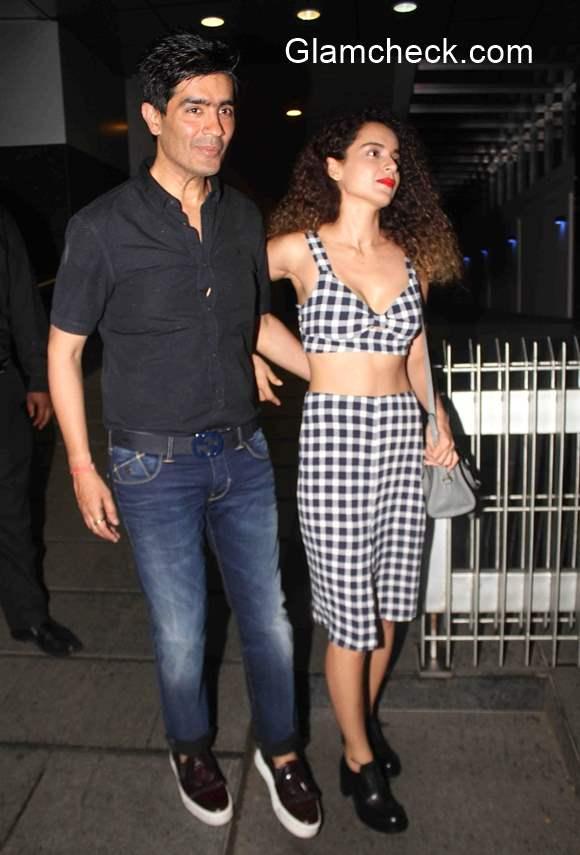 Kangana Ranaut Spotted with Fashion designer Manish Malhotra