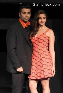 Karan Johar and Alia Bhatt at Colors Infinity and Colors Infinity HD Launch