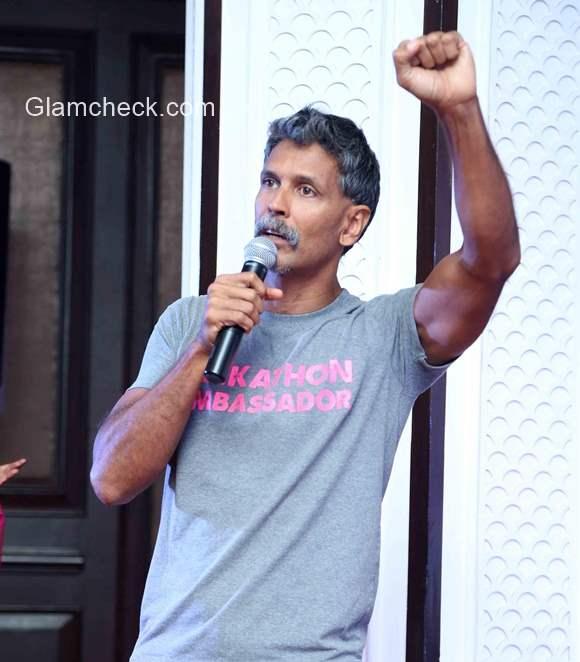 Milind Soman announces Pinkathon 2015