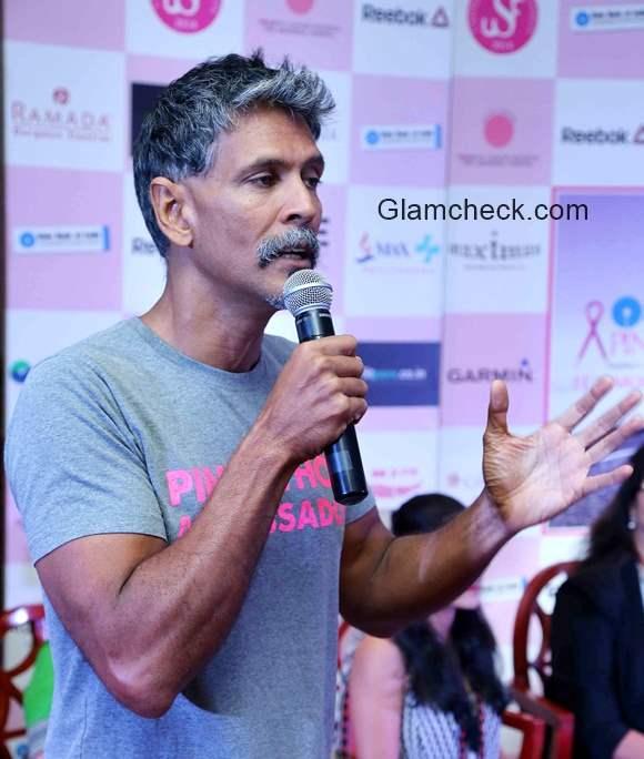 Milind Soman announces Pinkathon India biggest Women run