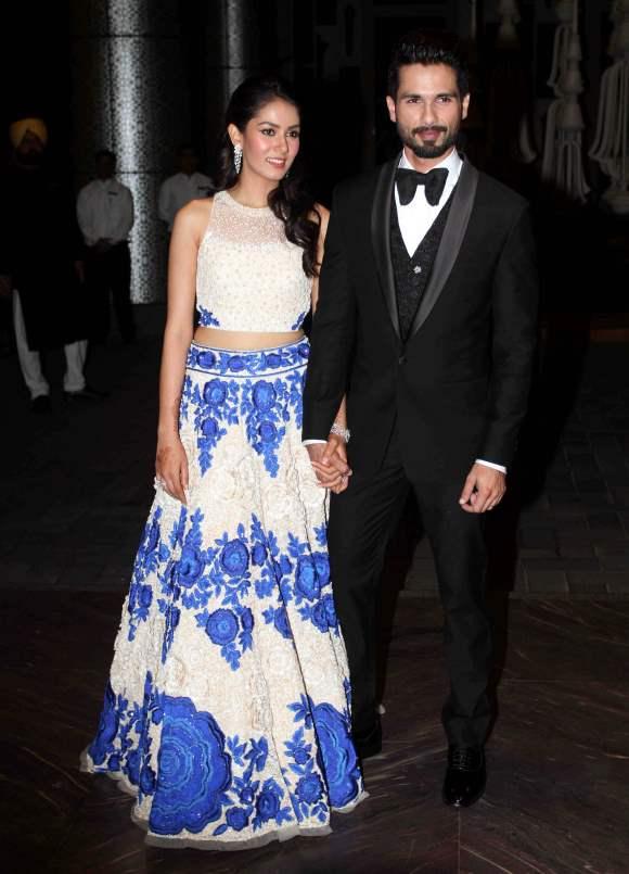 Mira Rajput Wedding Reception Outfit