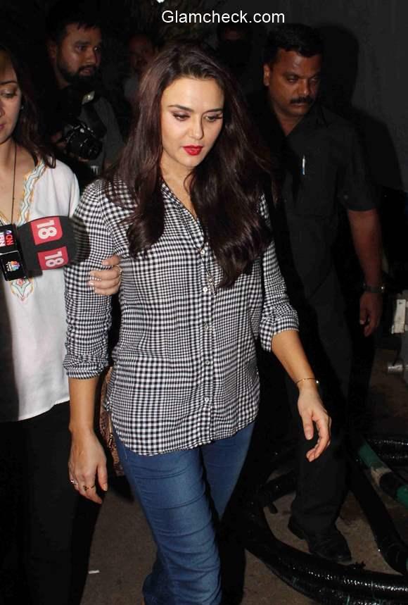Preity Zinta at Mumbai Film city