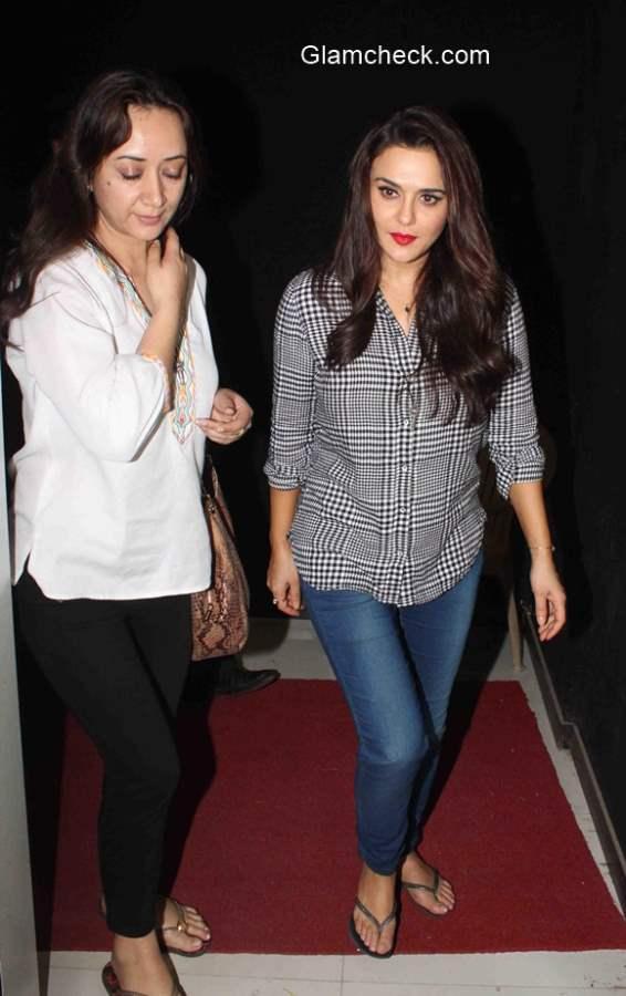 Preity Zinta spotted at Mumbai Film city