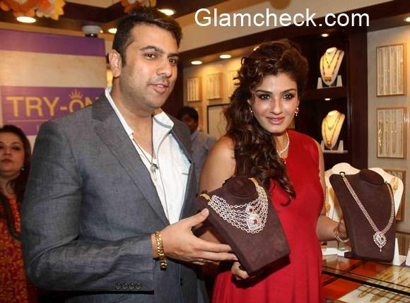 Raveen Tandon at the launch of PNG Try On Feature