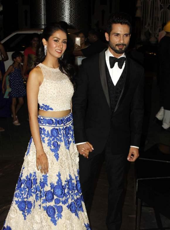 Shahid Kapoor Mira Rajput Wedding Reception Pics