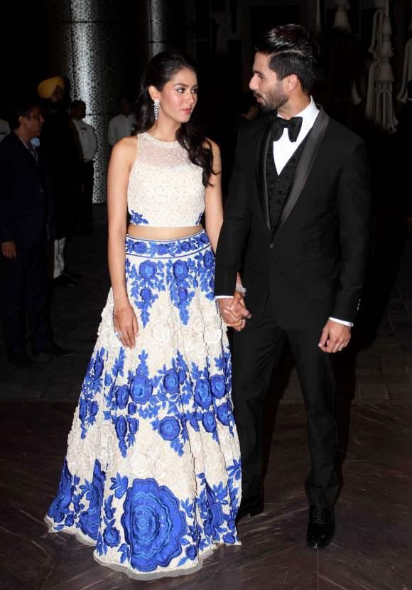 Shahid Kapoor Mira Rajput Wedding Reception pictures