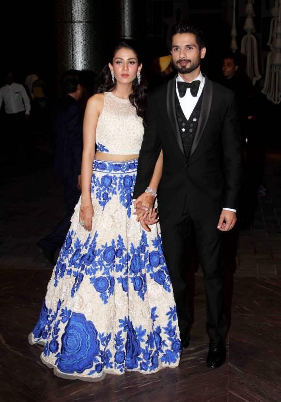 Shahid Kapoor and Mira Rajput grand Wedding Reception