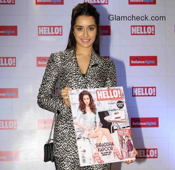 Shraddha Kapoor in Armani suit at the launch of Hello! magazine's new issue