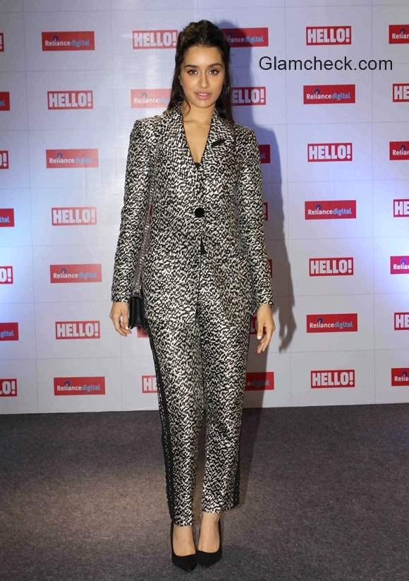 Shraddha Kapoor in Armani suit