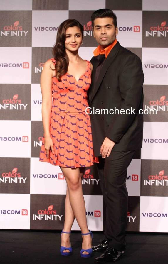 Television channels Colors Infinity and Colors Infinity HD launched by Karan Johar and Alia Bhatt