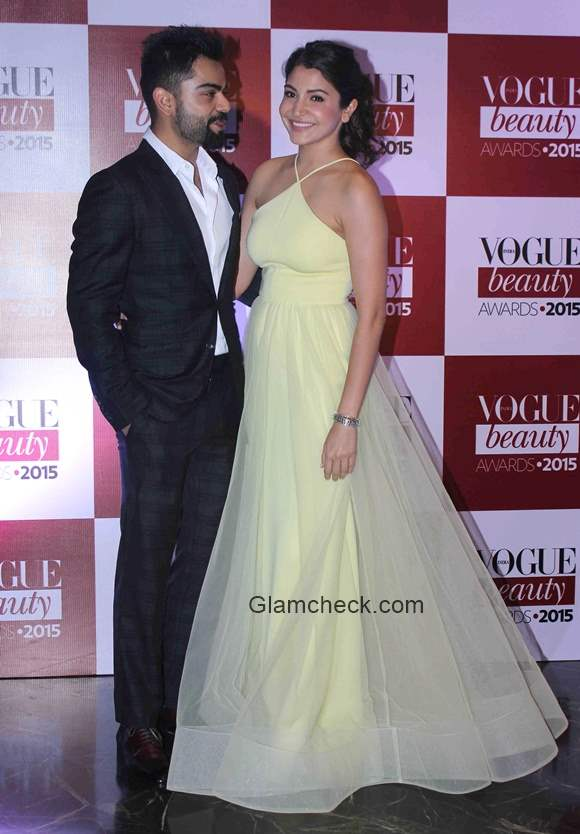 Virat Kholi and Anushka Sharma at the Vogue India Beauty Awards 2015