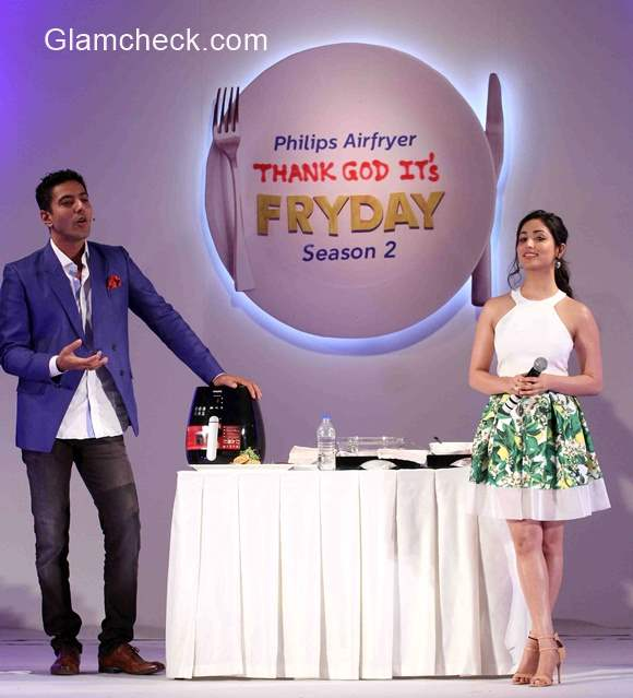 Yami Gautam and Chef Ranveer Brar during Times Food and Fashion show