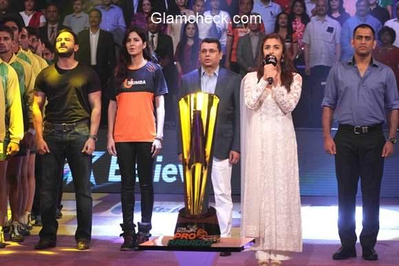 Celebs at the finals of Pro Kabaddi League season 2