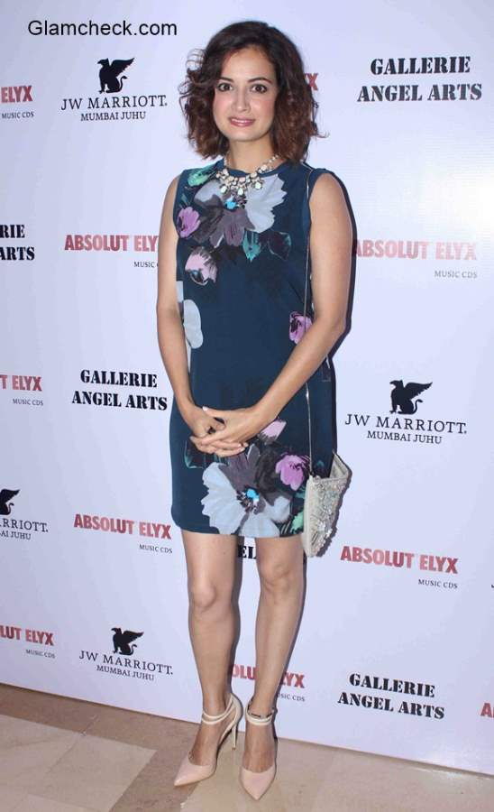 Dia Mirza attends exhibition In An Artists Mind curated by Gallerie Angel Arts
