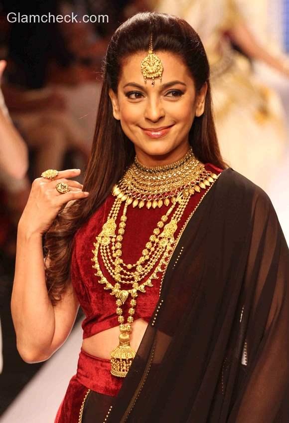 Juhi Chawla for Tanishq at India International Jewellery Week 2015