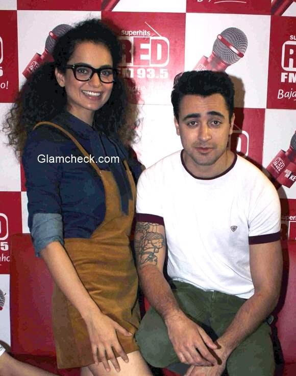 Kangana Imran at Red FM studio for Katti Batti promotions