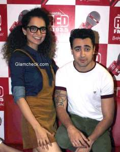 Kangana and Imran at Red FM studio for Katti Batti promotions