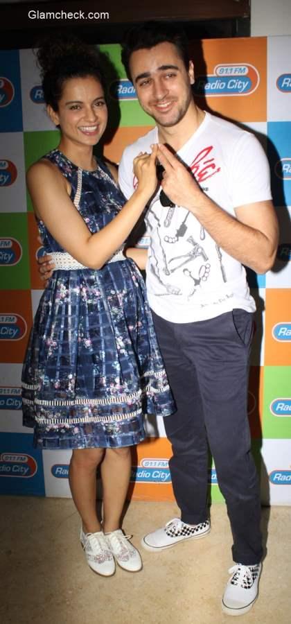 Kangana Ranaut and Imran Khan at Katti Batti promotion at Radio City