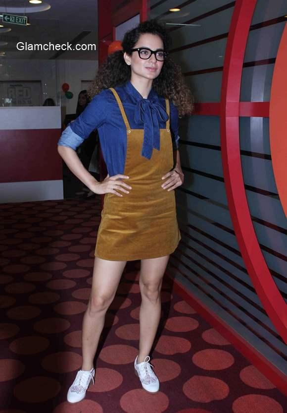 Kangana Ranaut at Red FM studio for Katti Batti promotions