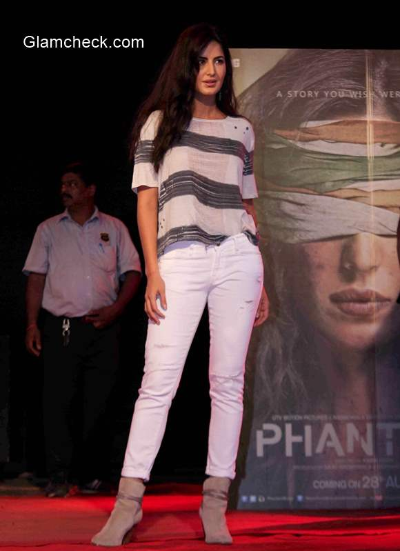 Katrina Kaif during the promotion of Phantom