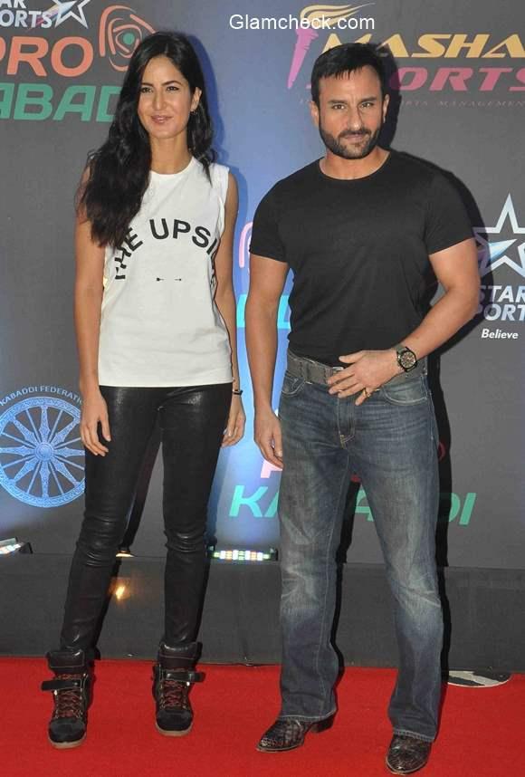 Saif and Katrina at the finals of Pro Kabaddi League season 2