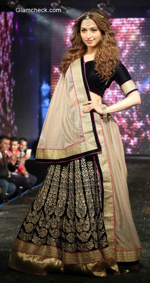 Black and Gold Lehenga – the latest trend in Festive Wear