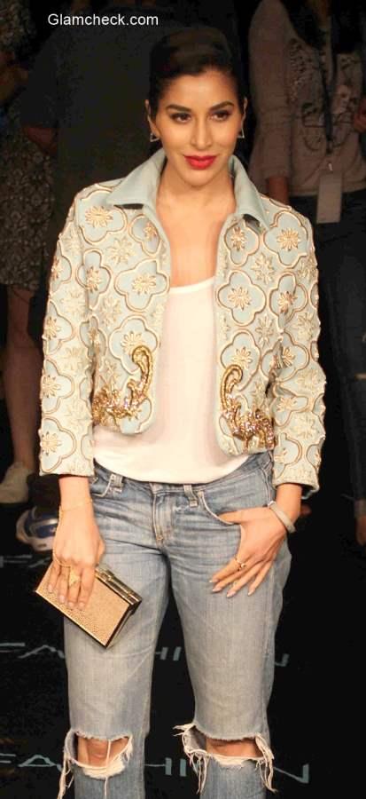 Boyfriend Jeans Embroidered Crop Jacket