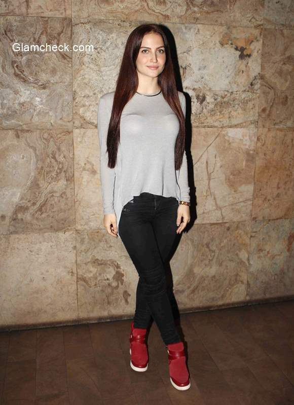 Elli Avram spotted during the screening of The Transporter