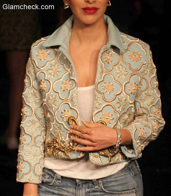 Embroidered Crop Jacket