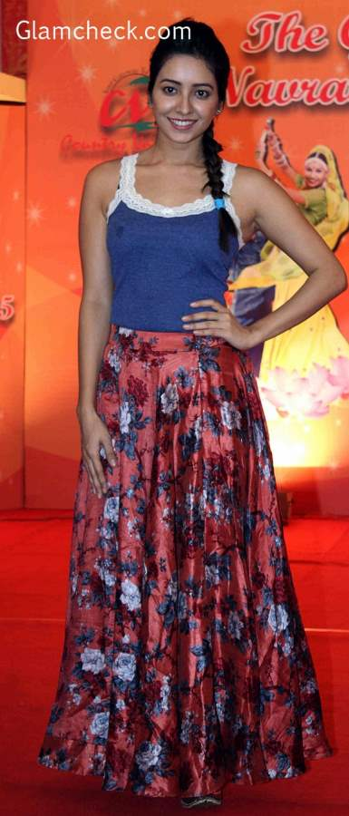Ghagra look with skirt