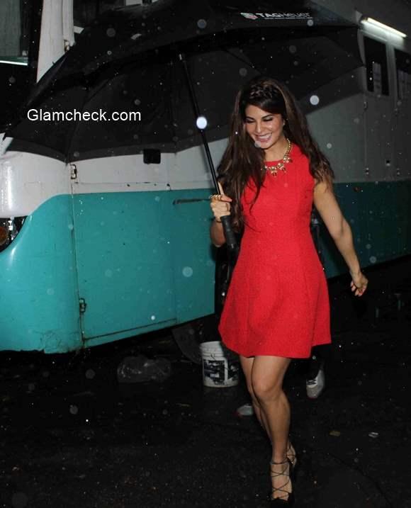 Jacqueline Fernandez Red Dress